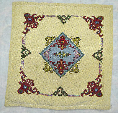 """VINTAGE TURKISH CUSHION COVER 20""""X20"""" handknotted 100%  Wool T-14"""