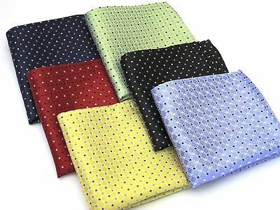 """FREE SHIPPING 100% Silk 10 """" Pocket Square, Great Colors"""