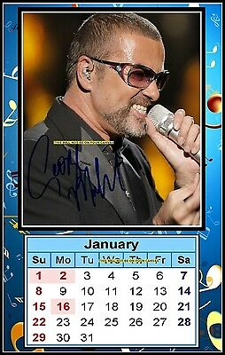 George Michael, Signed 2017, Magnetic Mini Calendar, Limited Edition (MT-3)