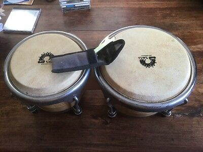 Bongo drums Professional, Club Salsa brand, boxed with spanner