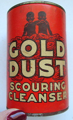 Vintage GOLD DUST Scouring Cleanser Tin Unopened Black Americana Advertising
