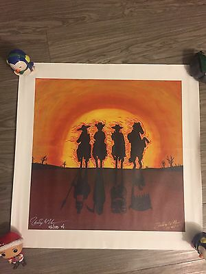 Zac Hanson Panic In the Streets Canvas PAINTING print! VERY RARE! SIGNED!