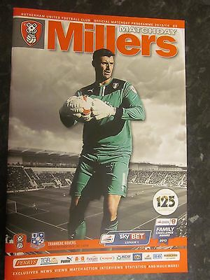 Rotherham United v Tranmere Rovers Programme 2013 signed by 8