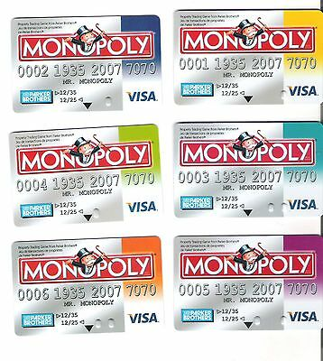 Monopoly Game Pieces - replacement electronic banking cards - Visa