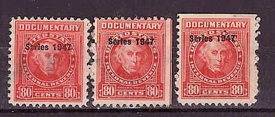 USA - REVENUES - R472 lot of 3