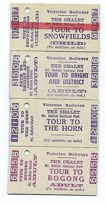 4 Different MT BUFFALO Tour Tickets