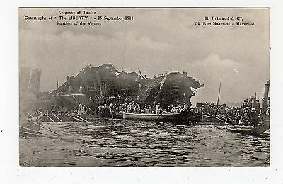 "THE WRECK OF ""THE LIBERTY"", TOULON 1911: Shipping postcard (C24415)"