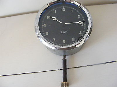 1930s SMITHS VINTAGE CAR CLOCK GOOD CONDITION BUT RUNS SLIGHTLY FAST