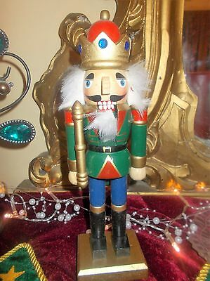 Vintage Nutcracker 1980 1990s wood wooden victorian christmas decoration