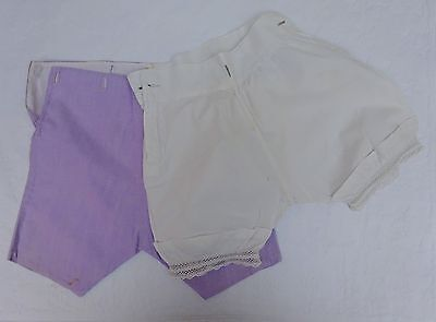 Baby Boys Edwardian Shorts & Pants Antique Early 1900's Lace Mauve Bloomers