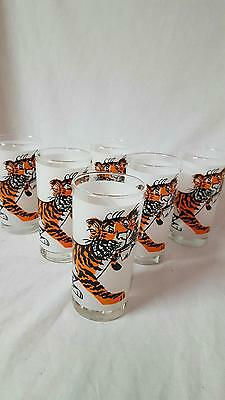 Vintage Set of 6 Esso Exxon Tiger in Your Tank Advertising Glasses Unused