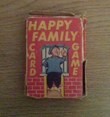 Vintage happy families card game