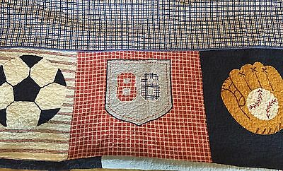 Pottery Barn Boys Twin Size Sports Quilt