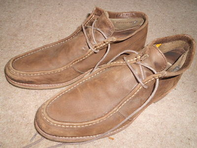 Cat Caterpillar Mens Brown Lace-Up Soft Leather Shoes Size 11 - Hardly Worn Vgc