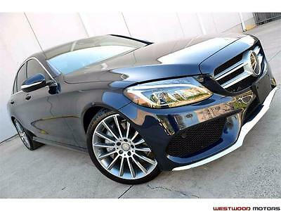 """2015 Mercedes-Benz C-Class Super Loaded $17,540 in Options Sport AMG Head Up  2015 Mercedes-Benz C300 Sport 19"""" Wheels Head Up Leather LOADED CAR MSRP $57k"""