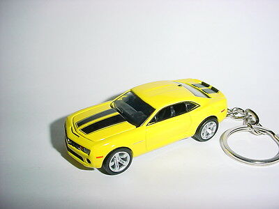 NEW 3D YELLOW CHEVROLET CAMARO SS CUSTOM KEYCHAIN keyring KEY CHAIN BUMBLE BEE