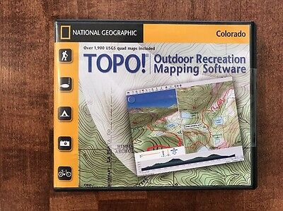 TOPO! National Geographic COLORADO TOPO Maps Mapping Software 7 CD-ROM NEW