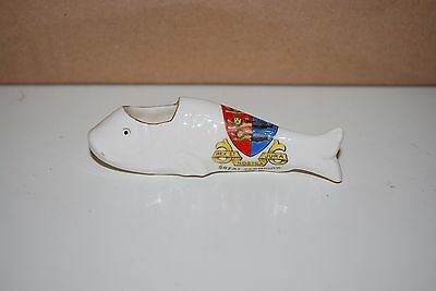 Crested Ware Great Yarmouth Fish Dish Unmarked
