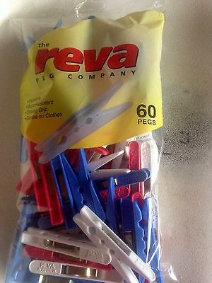Reva Clothes Pegs Pack 60 Pieces Starmaid Australian Made