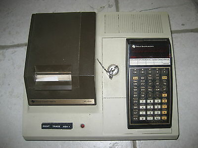 texas instrument ti programmamable 59 et model pc100A