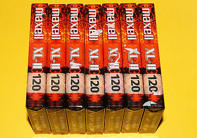 7x MAXELL XL II 120 Long Play Cassette Tapes + NEW & SEALED +