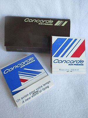 Collection of Vintage Air France Concorde Packets of Matches