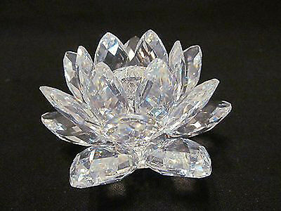 Swarovski Medium Water Lily Candle Holder with Lucite Candle
