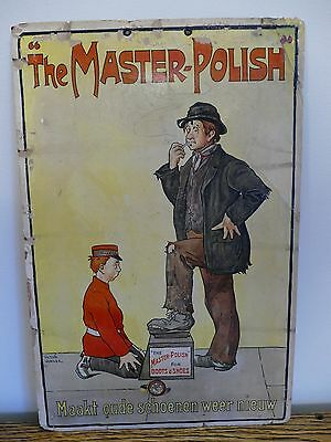 """RARE & GENUINE ANTIQUE SIGN BY VICTOR VENNER, """"THE MASTER POLISH"""" EARLY 1900s."""