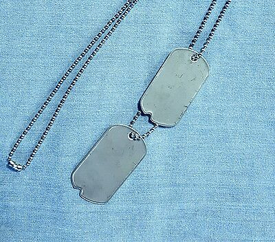 Official Military Personalized Notched Dog Tags & Chains Wwii Style