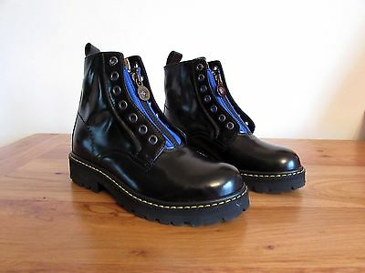 New Young Versace Boys Leather Boots Size Uk 12.5 Eu 31