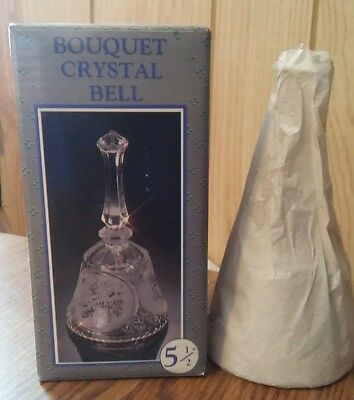 Bouquet Crystal Bell 5.5. inches tall new in box