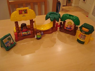 Fisher Price selection of toys and 3 people