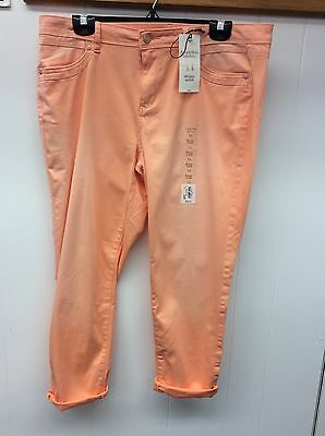 Women's size 14 cute peach skinny ankle pant by Simply Vera Vera Wang - New- :)