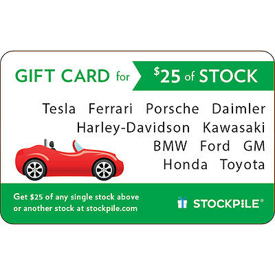 $25 Stockpile eGift Card Car - Email delivery