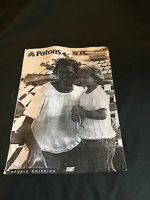 """Vintage Copy of Patons Double Knitting, Ladies/Child, Size 22""""-42"""" chest/bust,"""