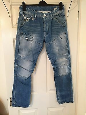 Men's Light Blue Jeans From G Star, Size W32 L30