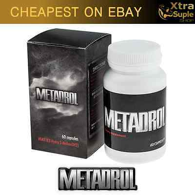 METADROL - 60 CAPSULES REVOLUTION IN BUILDING MUSCLE ! POWER ENERGY Probolan