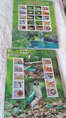 2x sheets of animal stamps