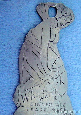 Vintage White Rock Water & Ginger Ale Bottle Opener; Great Nymph Image