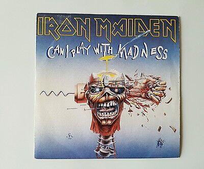 """Iron Maiden  can a play with  madness - 7"""" Spain"""