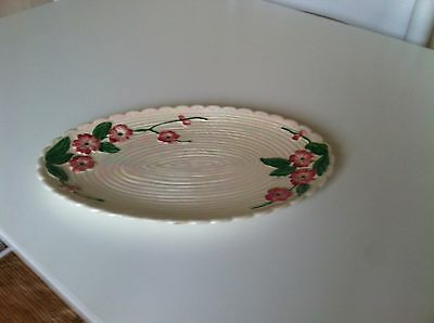 Maling Lustre Apple Blossom Oval Plate/tray