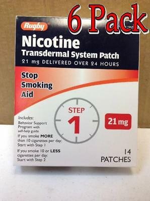 Rugby Nicotine Transdermal System Patch, Step 1, 14ct, 6 Pack 305361108885A2398