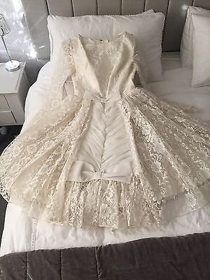 True Vintage Tulle Lace 1950s Layered Ballerina Wedding Dress Small