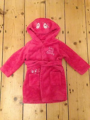 Girls Pink Dressing Gown Size 12-18 Months