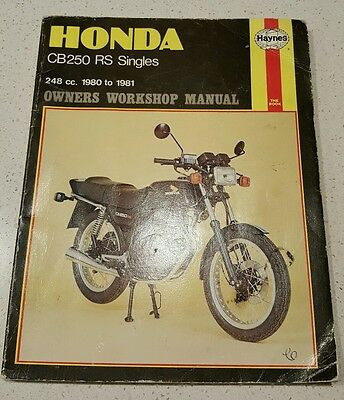 HONDA CB250RS 1980 - 82 Motorcycle workshop manual cafe racer project