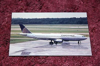 Continental Airlines Airbus A300 Airline Postcard