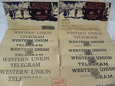 16 Western Union Telegrams Correspondence Between Husband Wife Mistress 1920's