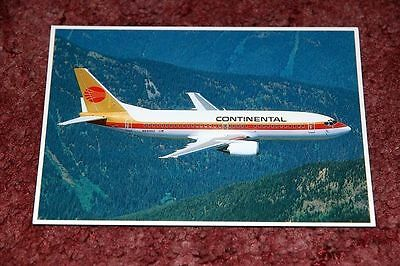 Continental Airlines Boeing 737-300 Airline Postcard