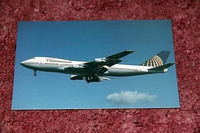 Continental Airlines Boeing 747-200 Airline Postcard