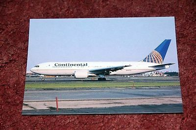 Continental Airlines Boeing 767-200 Airline Postcard